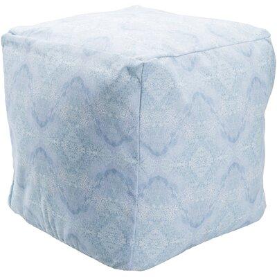 Amrita Pouf Ottoman Upholstery: Blue