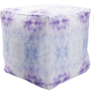 Amrita Pouf Ottoman Upholstery: Indigo/Violet