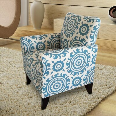 Deverell Printing Armchair Upholstery: Blue / White