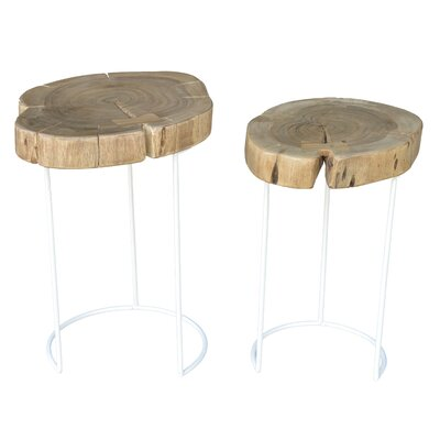 Eulah 2 Piece Nesting Tables Finish: White
