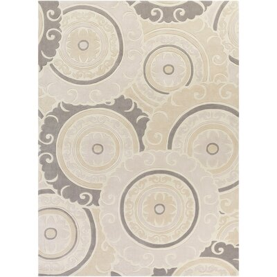 Tripolia Hand-Tufted Ivory/Gray Area Rug Rug Size: Rectangle 8 x 11