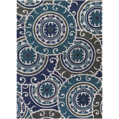 Tripolia Hand-Tufted Blue Area Rug Rug Size: Rectangle 8 x 11