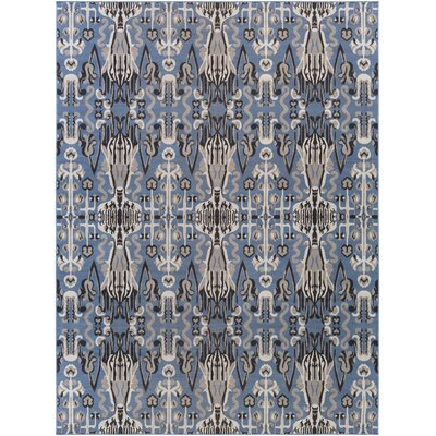Hasselt Gray/Navy Area Rug Rug Size: Rectangle 711 x 11