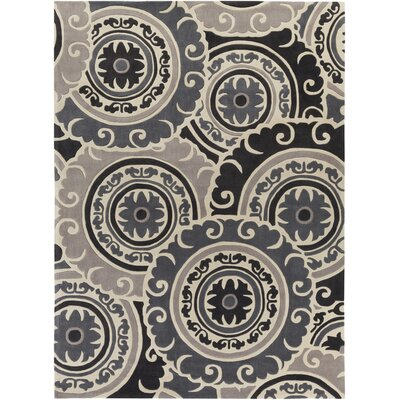 Ramgan Hand-Tufted Gray Area Rug Rug Size: Rectangle 8 x 11