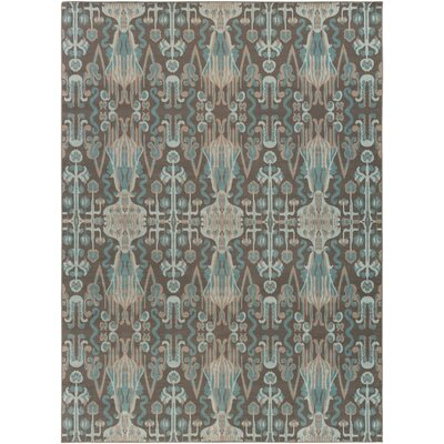 Hasselt Teal/Brown Area Rug Rug Size: Rectangle 7'11