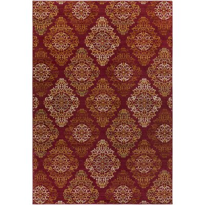Mckee Burgundy Area Rug Rug Size: Rectangle 53 x 73