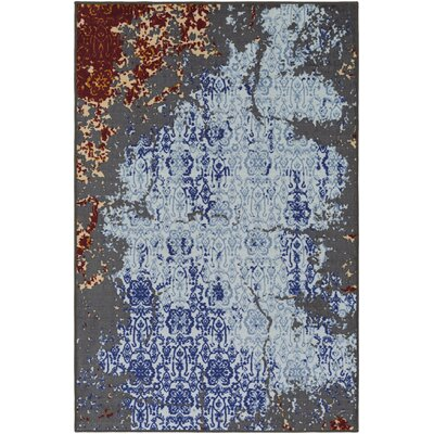 Prasad Blue/Gray Area Rug Rug Size: Rectangle 5 x 8