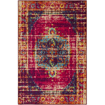 Prasad Pink/Purple Area Rug Rug Size: Rectangle 5 x 8