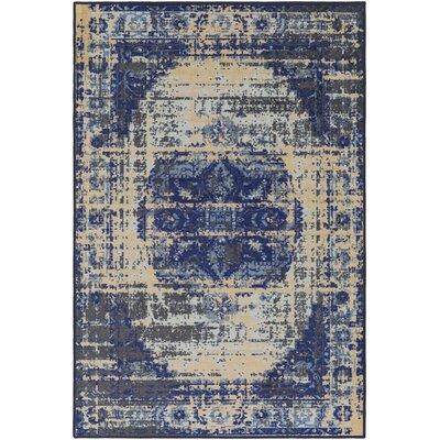 Prasad Beige/Blue Area Rug Rug Size: 5 x 8