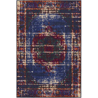 Prasad Blue/Brown Area Rug Rug Size: Rectangle 5 x 8