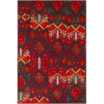 Prasad Orange/Purple Area Rug Rug Size: Rectangle 5 x 8