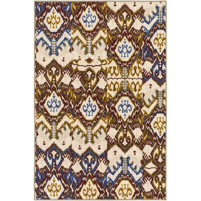 Prasad Blue/Beige Area Rug Rug Size: Rectangle 8 x 10