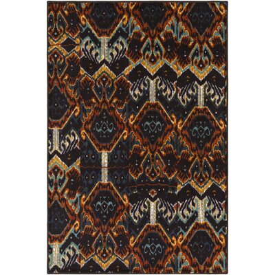 Prasad Blue/Brown Area Rug Rug Size: 5 x 8