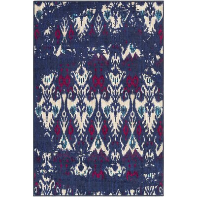 Prasad Beige/Blue Area Rug Rug Size: Rectangle 5 x 8