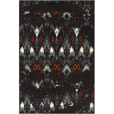 Prasad Aqua/Brown Area Rug Rug Size: Rectangle 5 x 8