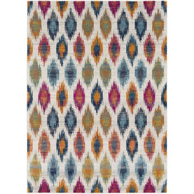 Youcef Blue/Pink Area Rug Rug Size: Rectangle 53 x 73