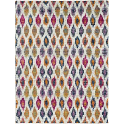 Youcef Blue/Pink Area Rug Rug Size: Rectangle 93 x 126