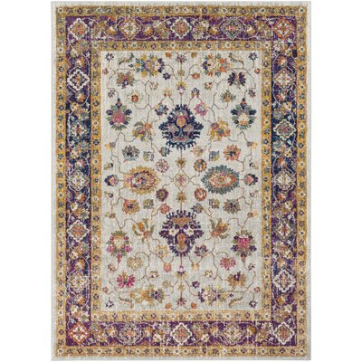 Koval Purple/Orange Area Rug Rug Size: 53 x 73