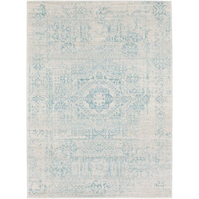 Koval Loomed Blue/Beige Area Rug Rug Size: Rectangle 53 x 73
