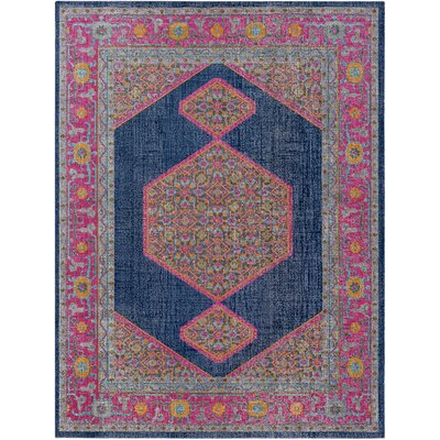 Fredonia Hexagonal Blue/Pink Area Rug Rug Size: 710 x 103