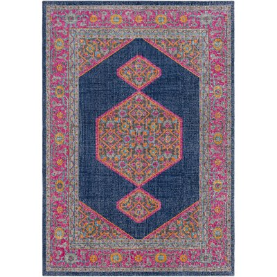 Fredonia Hexagonal Blue/Pink Area Rug Rug Size: Rectangle 2 x 3
