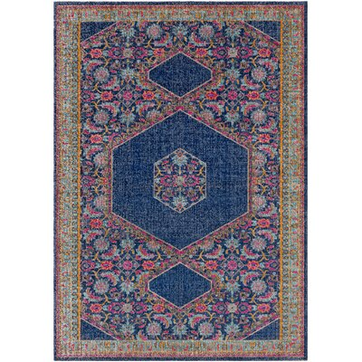 Fredonia Blue/Pink Area Rug Rug Size: Rectangle 53 x 73
