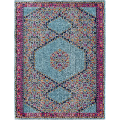Fredonia Tibetan Blue/Pink Area Rug Rug Size: Rectangle 710 x 103