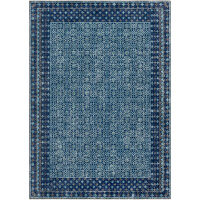Fredonia Oriental Blue Area Rug Rug Size: Rectangle 53 x 73
