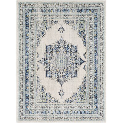 Hillsby Oriental Geometric Blue/Beige Area Rug Rug Size: Rectangle 53 x 73