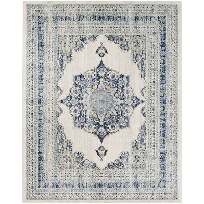 Hillsby Oriental Geometric Blue/Beige Area Rug Rug Size: Rectangle 710 x 103