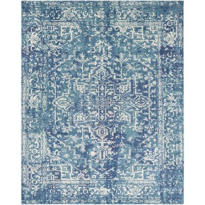 Hillsby Blue Area Rug Rug Size: Rectangle 53 x 73