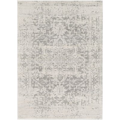 Hillsby Gray/Beige Area Rug Rug Size: 53 x 73