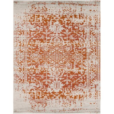 Hillsby Orange/Beige Area Rug Rug Size: 710 x 103