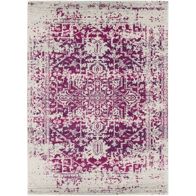 Hillsby Pink/Beige Area Rug Rug Size: 53 x 73