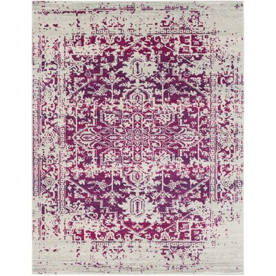 Hillsby Garnet/Beige Area Rug Rug Size: Rectangle 710 x 103