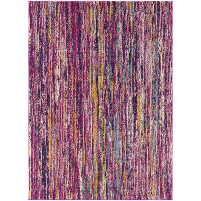 Andover Pink/Orange Area Rug Rug Size: 5'3