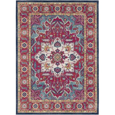 Hillsby Floral Pink Area Rug Rug Size: Rectangle 311 x 57