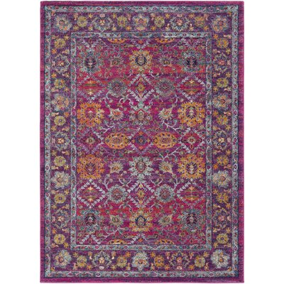 Hillsby Pink/Purple Area Rug Rug Size: Rectangle 53 x 73