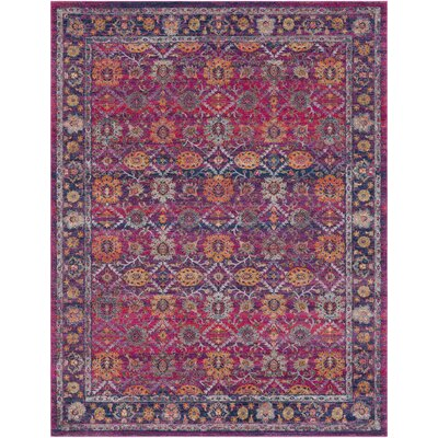 Hillsby Pink/Purple Area Rug Rug Size: Rectangle 710 x 103