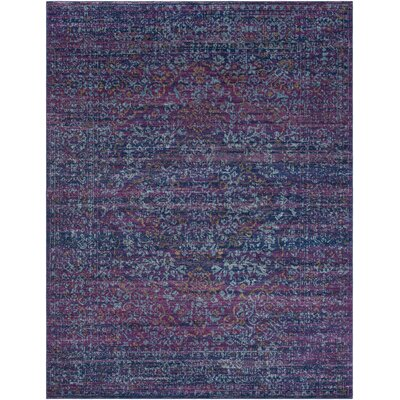 Andover Purple/Blue Area Rug Rug Size: 93 x 126