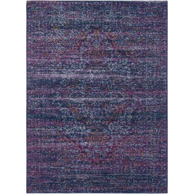 Hillsby Purple/Blue Area Rug Rug Size: 53 x 73