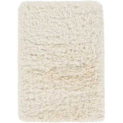 Sina Hand-Woven Peach Cream Area Rug Rug Size: Rectangle 2 x 3