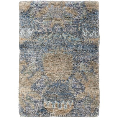Elvera Cobalt / Taupe Area Rug Rug Size: Rectangle 2 x 3