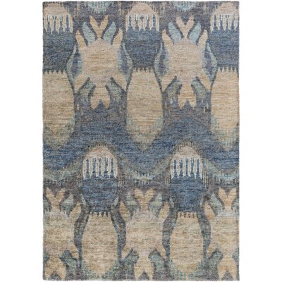 Elvera Cobalt / Taupe Area Rug Rug Size: Rectangle 8 x 11