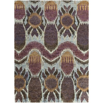 Elvera Eggplant Area Rug Rug Size: Rectangle 5 x 8