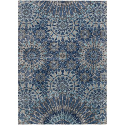 Fredonia Oriental Gray/Blue Area Rug Rug Size: Rectangle 2 x 3