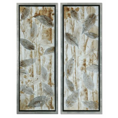 'Pressed Leaves' 2 Piece Photographic Print Shadow Box Set