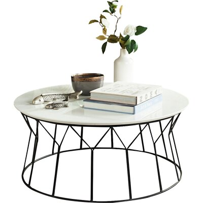 Daya Coffee Table Top Finish: Lacquer White