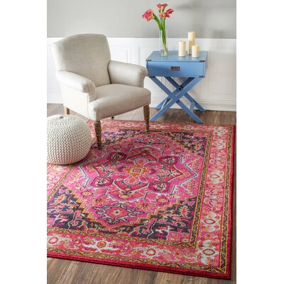Clarke Pink Area Rug Rug Size: Rectangle 710 x 11