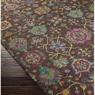 Emmie Brown Area Rug Rug Size: 53 x 76